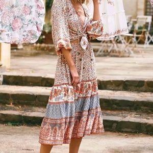 Dresses & Skirts - Boho Chic Gypsy Floral Print Maxi Skirt